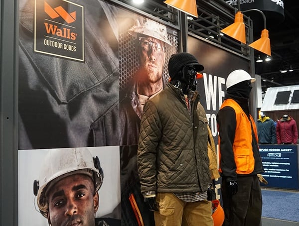 Outdoor Retailer Winter Market 2018 Mens Work Clothing Display