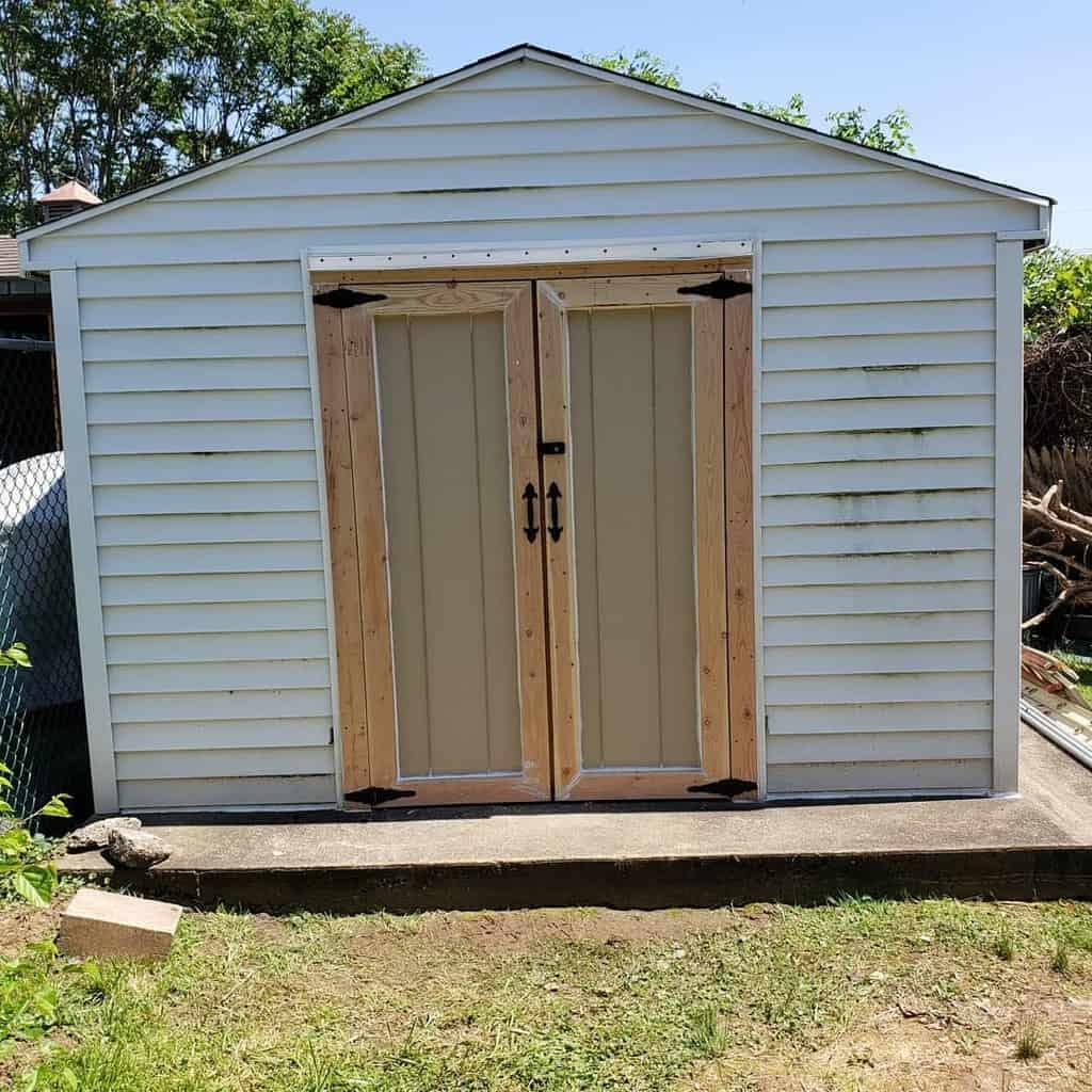 outdoor shed door ideas burkeremodel