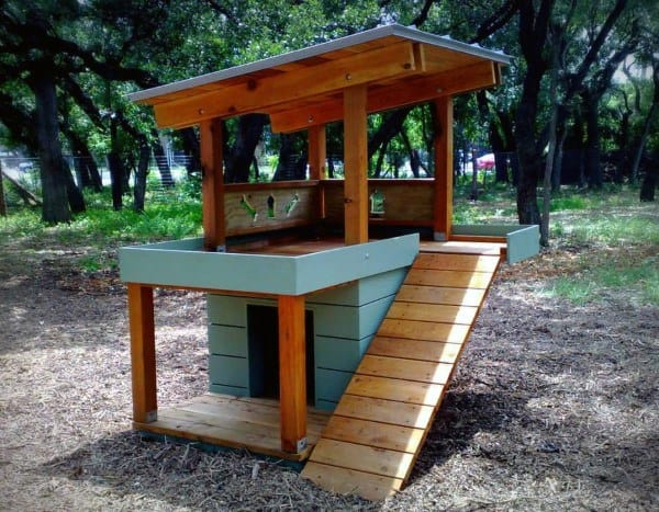 Outdoor Two Level Cool Dog Houses Inspiration