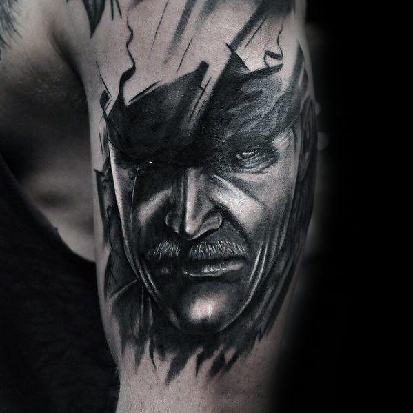 50 metal gear tattoo designs for men gaming ink ideas. Black Bedroom Furniture Sets. Home Design Ideas
