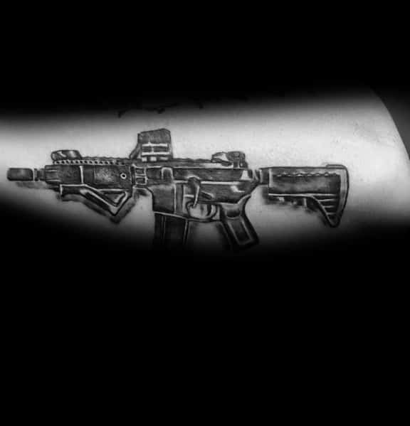 Outer Arm Guys Ar 15 Tattoo Designs