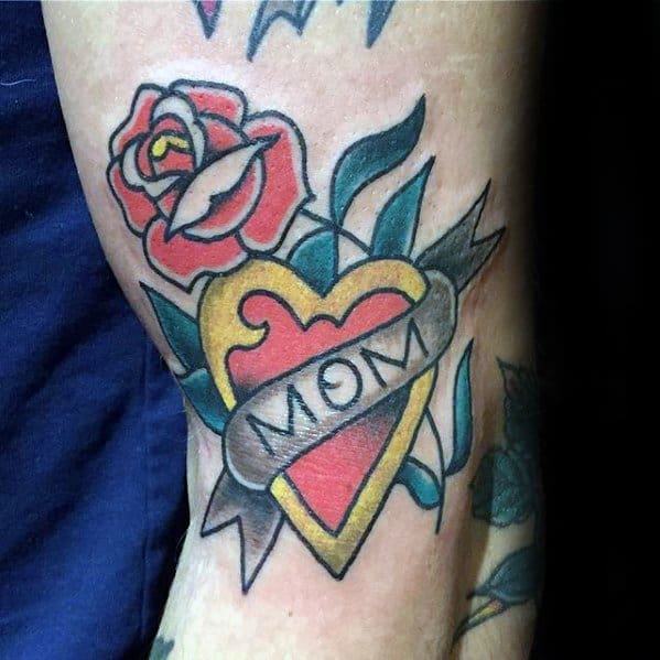 Outer Arm Mens Cool Traditional Mom Tattoo Ideas