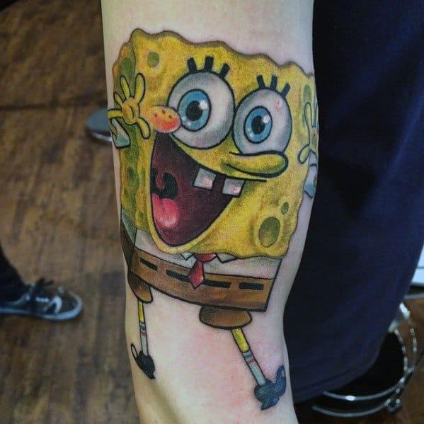 50 Spongebob Tattoo Designs For Men Cartoon Ink Ideas