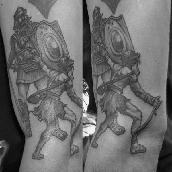 30 David And Goliath Tattoo Designs For Men – Manly Ideas forecasting