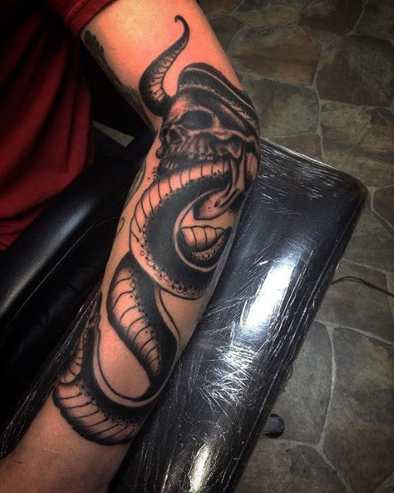 Outer Forearm Amazing Mens The Dark Mark Tattoo Designs