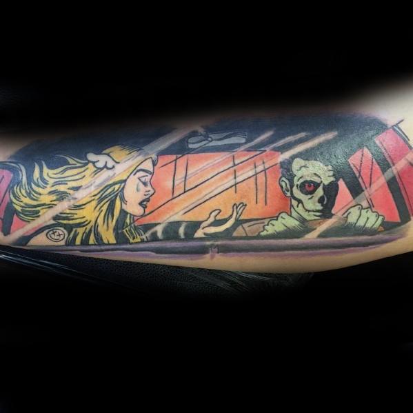 Outer Forearm Blink 182 Tattoos For Gentlemen