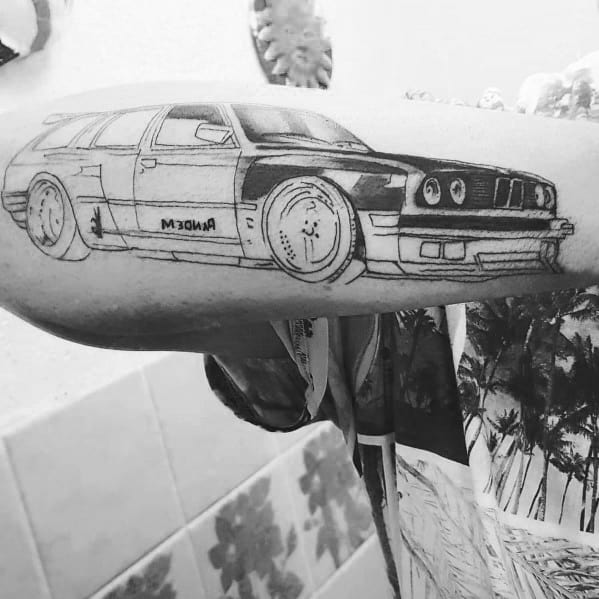 Outer Forearm Bmw Wagon Tattoo Ideas