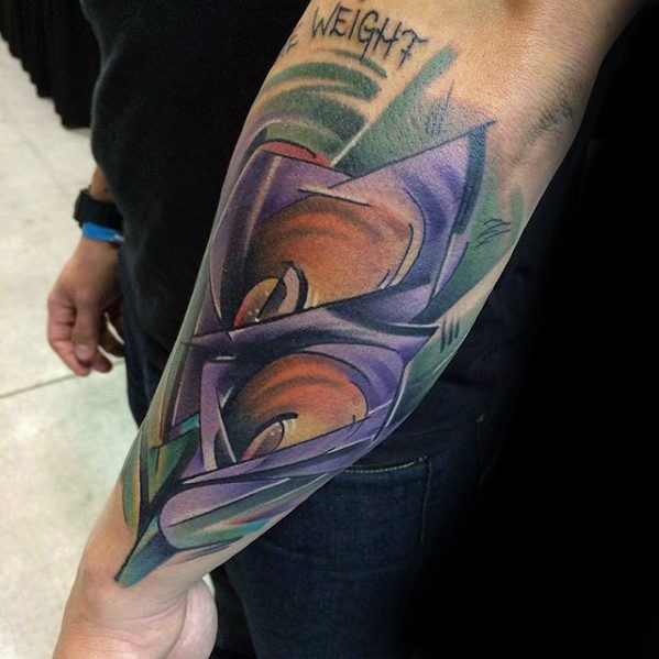 Outer Forearm Cubism Tattoos Men