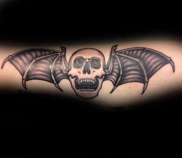 Outer Forearm Deathbat Tattoo Ideas For Men