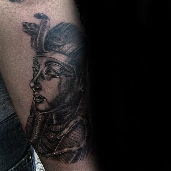 Outer Forearm Guys King Tut Tattoo Designs