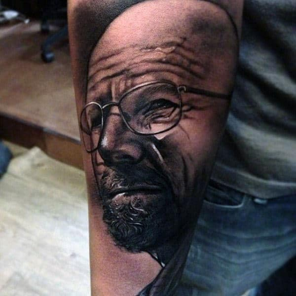 Outer Forearm Male Breaking Bad Realistic Tattoos