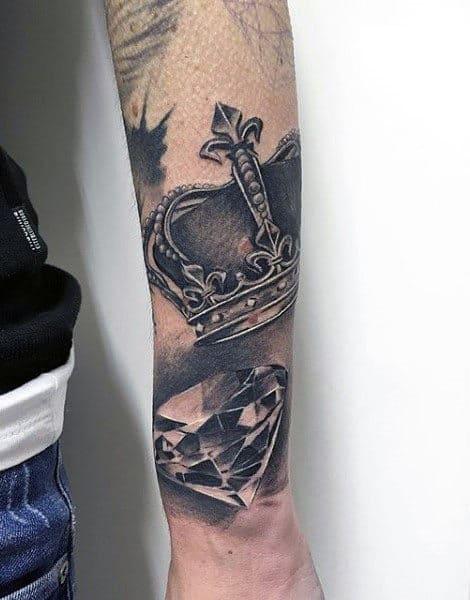 70 diamond tattoo designs for men precious stone ink. Black Bedroom Furniture Sets. Home Design Ideas