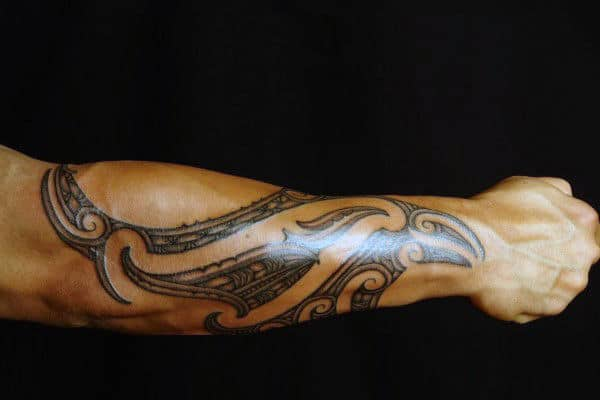 60 tribal forearm tattoos for men manly ink design ideas. Black Bedroom Furniture Sets. Home Design Ideas