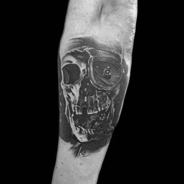 Outer Forearm Skull The Goonies Tattoos