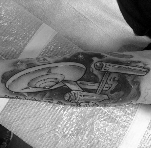 Outer Forearm Star Trek Guys Tattoo Designs