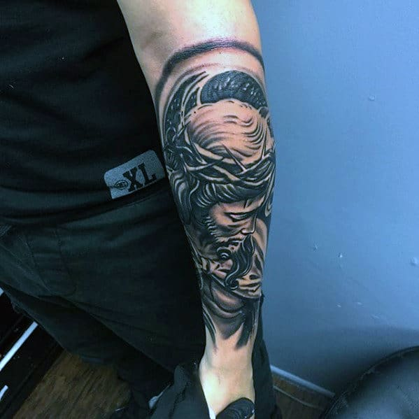 50 Jesus Forearm Tattoo Designs For Men