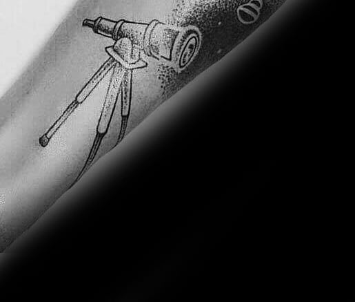 Outer Forearm Telescope Guys Tattoo Designs