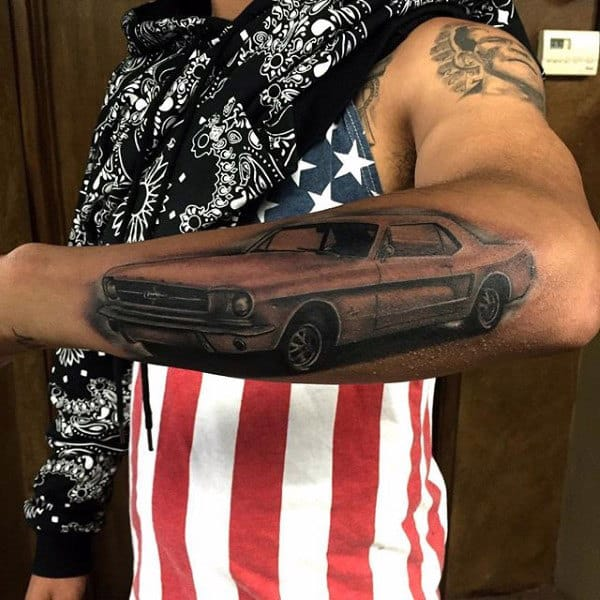 40 Mustang Tattoo Designs For Men