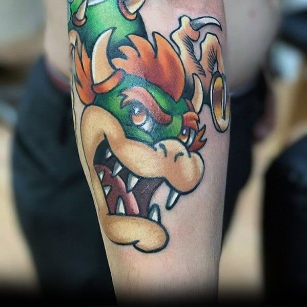 Outer Forearmbowser Tattoo Designs For Men