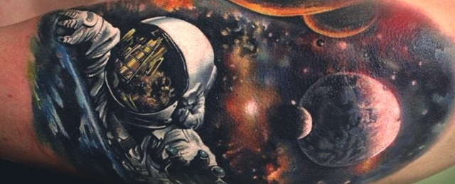 Outer Space Tattoos For Men