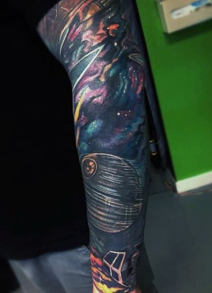 Masculine Outer Space Tattoos For Men