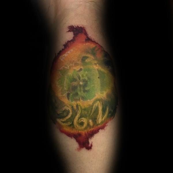 Outer Space Watercolor Guys Leg Calf 26 2 Running Tattoo Designs