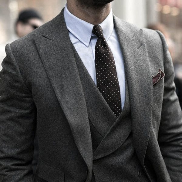 Outfit Fashion For Men Grey Suits
