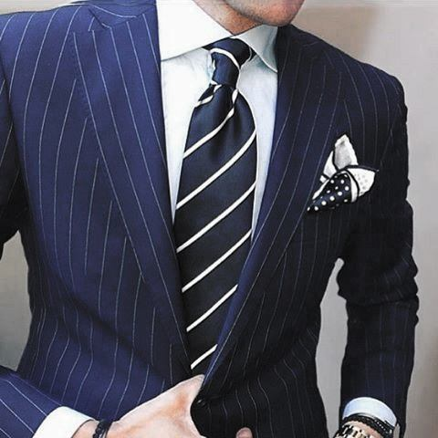 Outfit Fashion Ideas For Guys With Navy Blue Suit