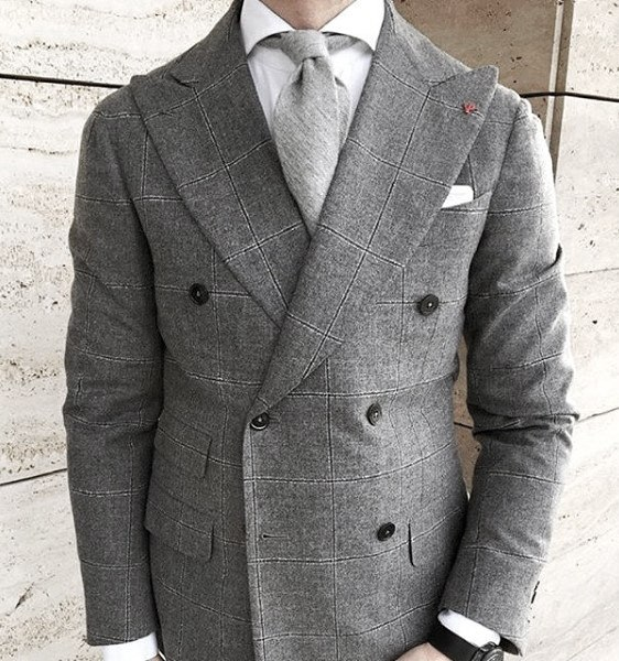 Outfits For Guys Grey Suit Styles