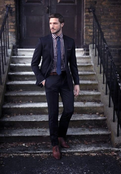 top 60 best navy blue suit brown shoes styles for men