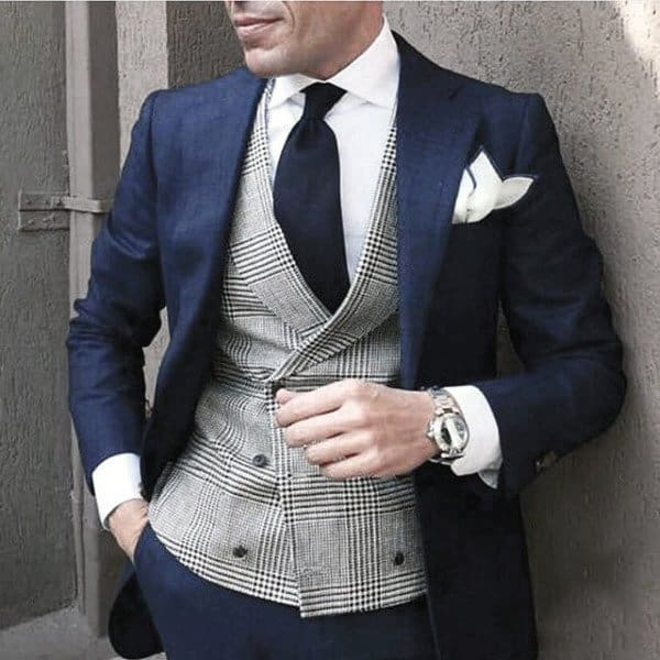 Outfits For Guys Navy Blue Suit Styles