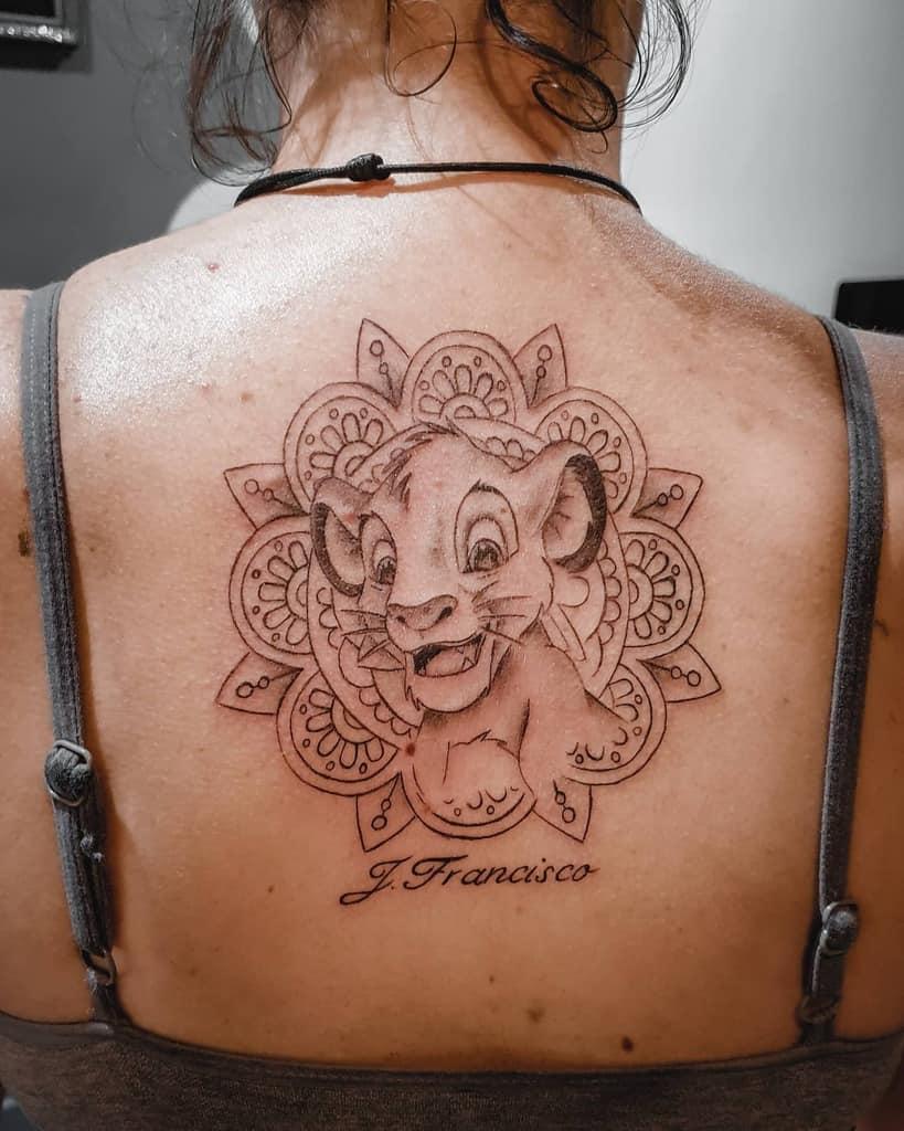 Outline Linework Simba Tattoo Damiantattoo.chm