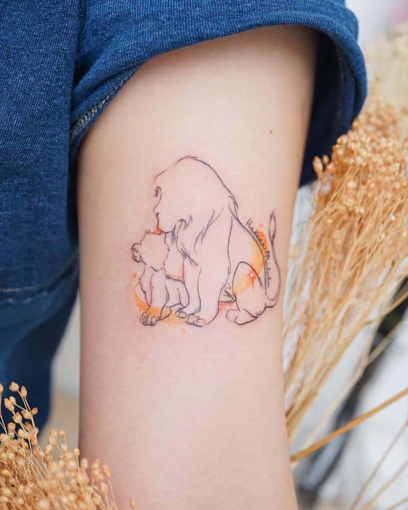 Outline Linework Simba Tattoo Hktattoo Rosey