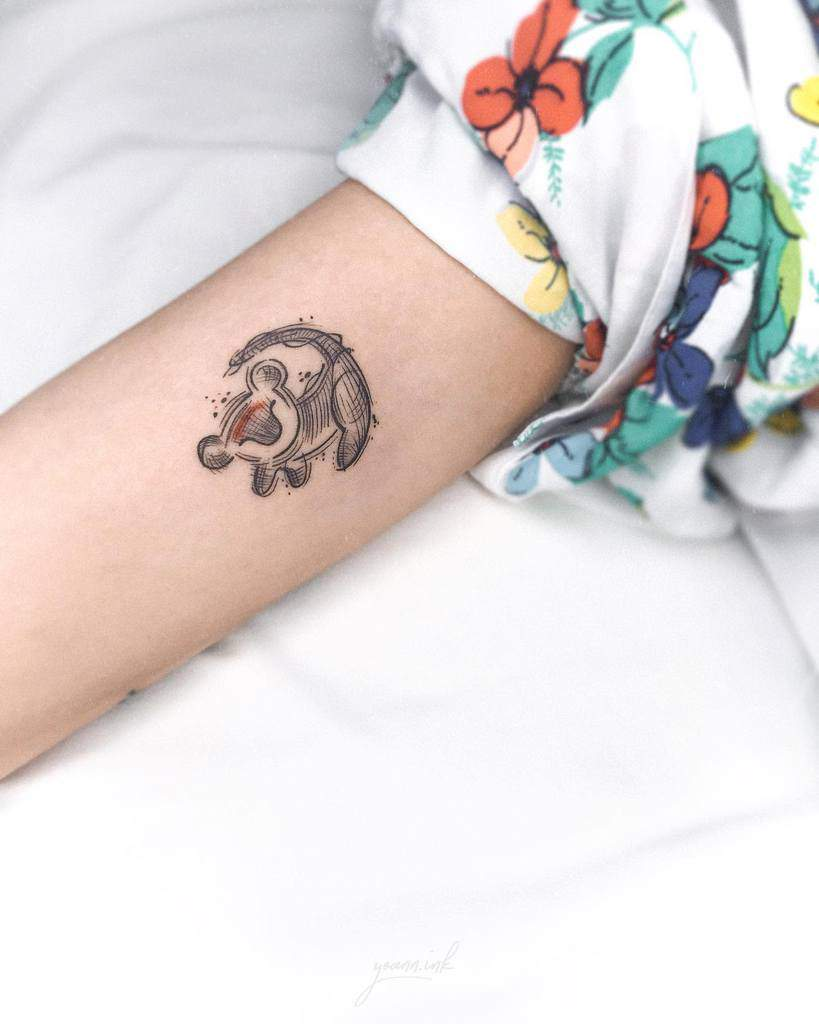 Outline Linework Simba Tattoo Yoann.ink