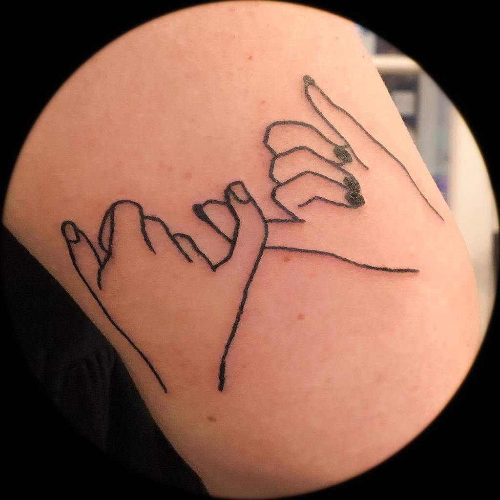 Outline Pinky Promise Tattoos Allisoneartisticdesign