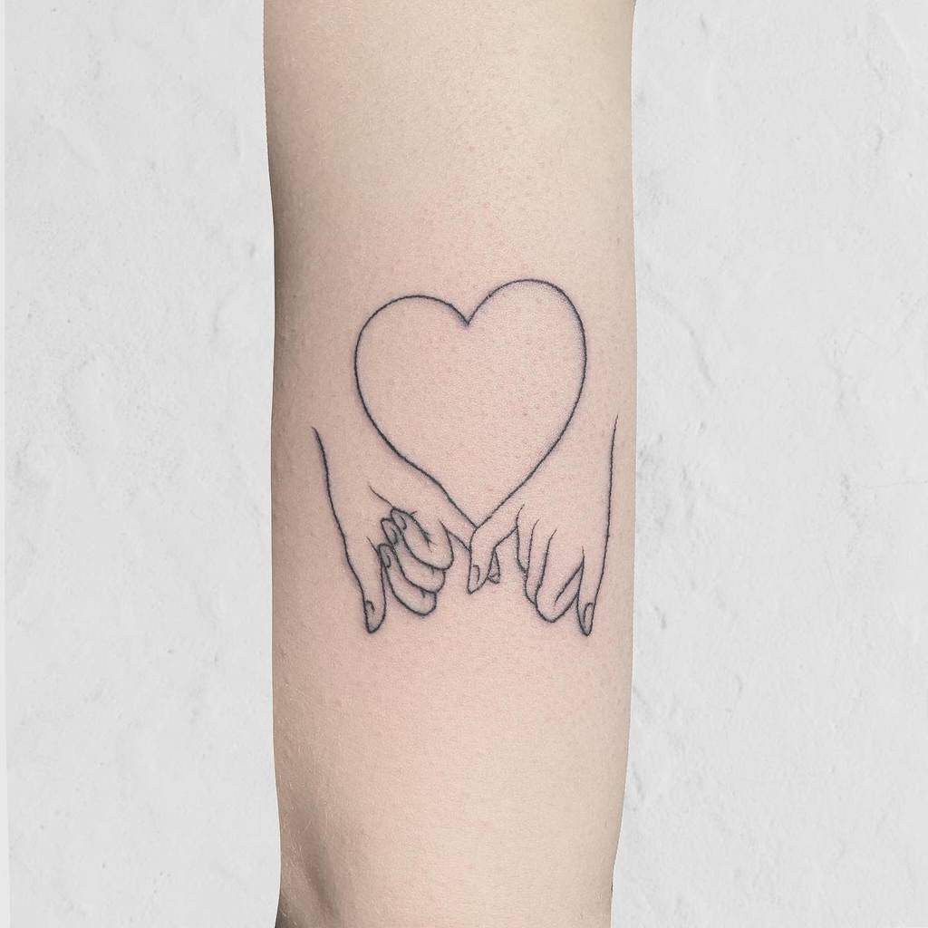 Outline Pinky Promise Tattoos Backtobasicstattoo
