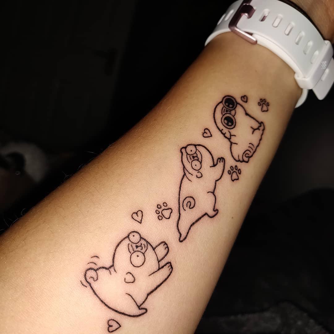 Outline Simple Pug Tattoo Danicabaker2401
