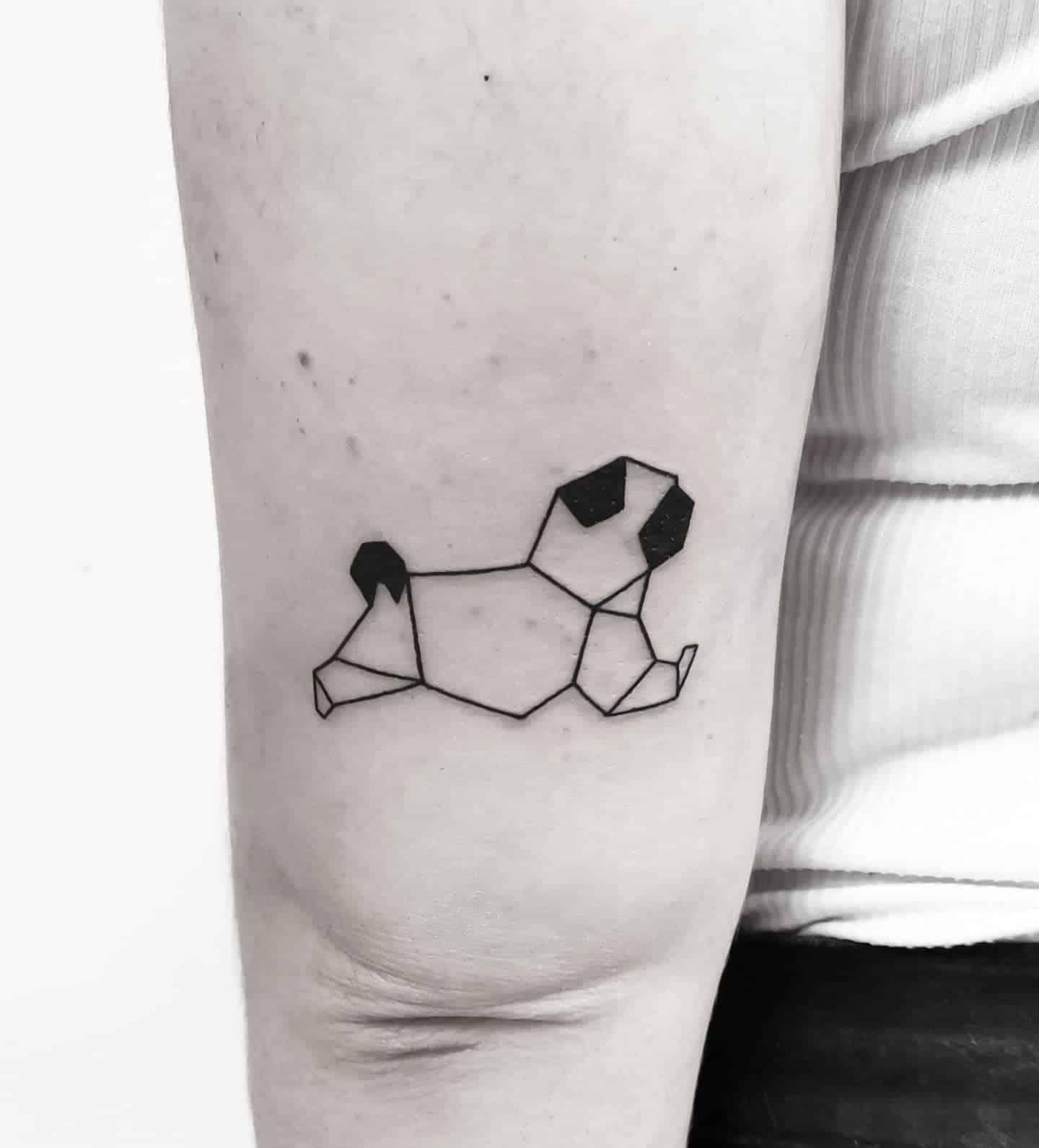 Outline Simple Pug Tattoo Sharintattoo
