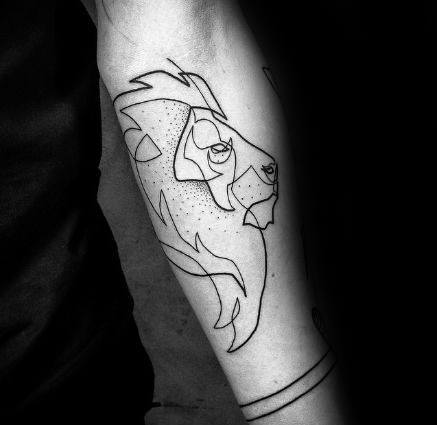 50 outline tattoos for men silhouette design ideas