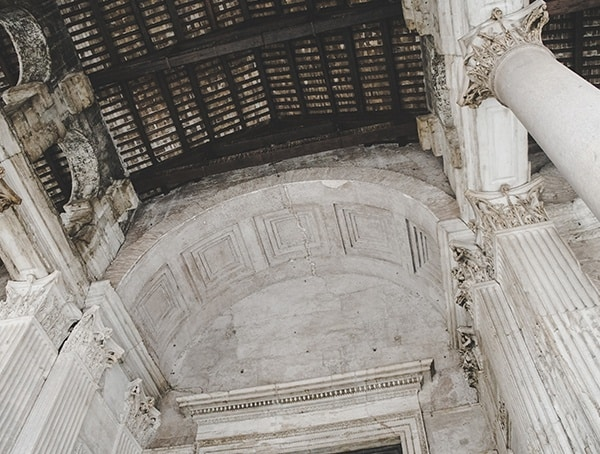 Outside Pantheon Ceiling Rome