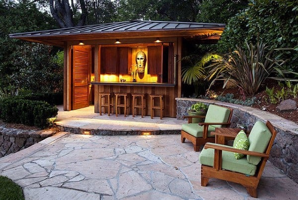 Backyard Patio Bar top 50 best backyard outdoor bar ideas - cool watering holes