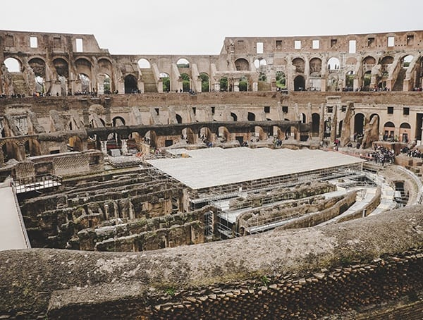 Oval Ampitheatre Colosseum Inside Look