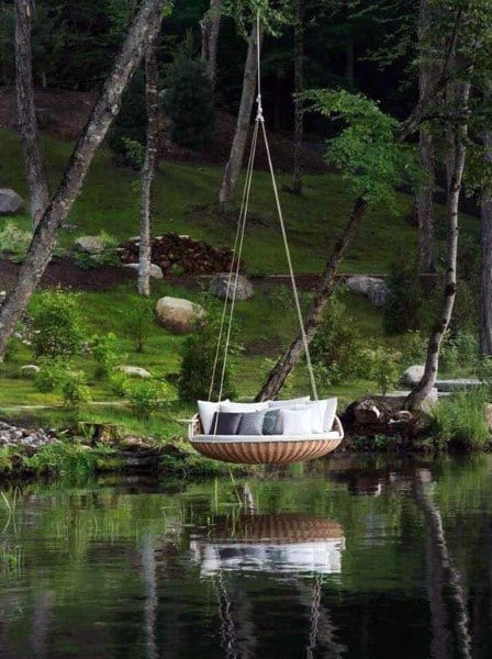 Over Water Hanging Bed Ideas