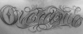 20 Overcome Tattoo Designs For Men – Word Ink Ideas
