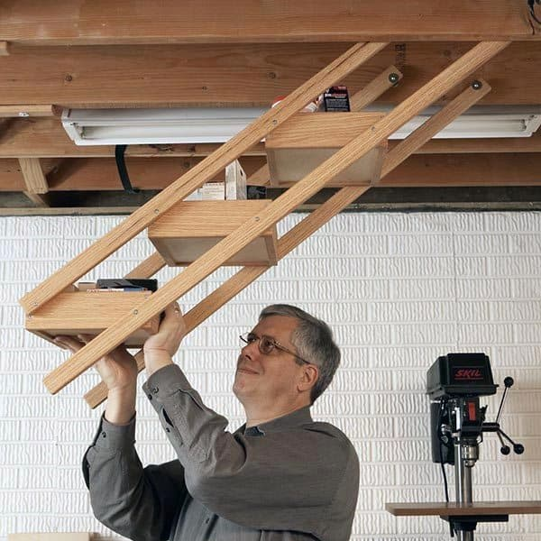 Overhead Ladder Tool Storage Ideas