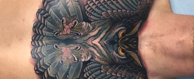 70 Owl Chest Tattoo Designs For Men – Nocturnal Ink Ideas