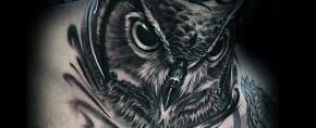 30 Owl Neck Tattoo Designs For Men – Bird Ink Ideas