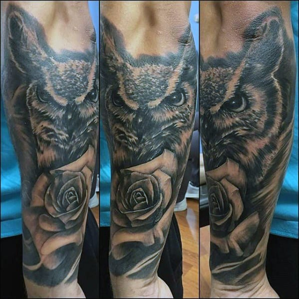 40 Owl Forearm Tattoo Designs For Men - Feathered Ink Ideas