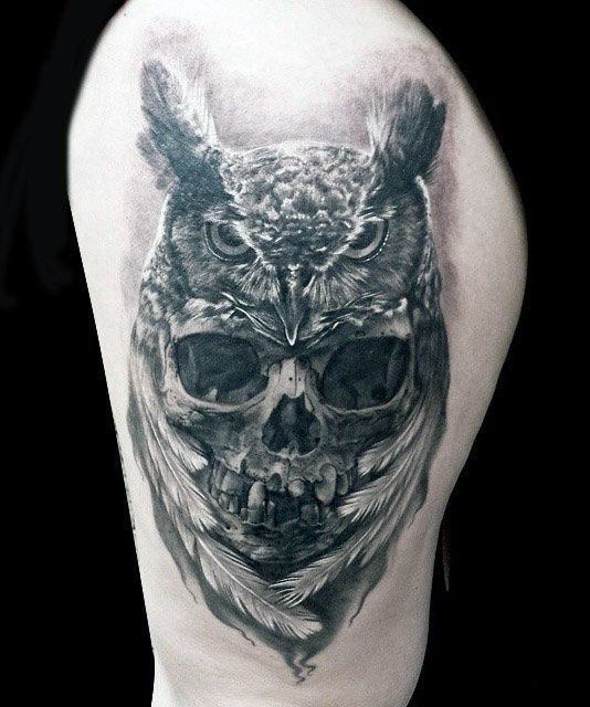 Owl Skull Guys Tattoo Ideas On Arm