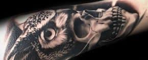 50 Owl Skull Tattoo Designs For Men – Cool Ink Ideas